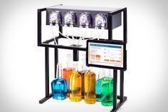 """Bartendro: """"Available in models with 3, 7, or 15 dispensers, this Raspberry Pi-powered gadget lets you hook the dispensers to various juices and liquors, then choose a drink youd like to make out of them from your tablet or smartphone."""""""