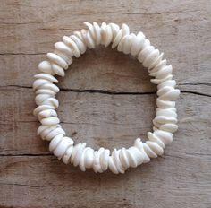 Puka shell bracelet mermaid jewelry beach jewelry by beachcombershop