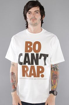 $13 The Bo Cant Rap Tee in White by The Freshnes - Use repcode SMARTCANUCKS for 10% off on #PLNDR