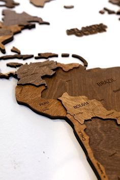 3D Walnut Wooden Map by MapFromWood. World wall art wood world map wooden world map wall map wall wooden world map wall art 3d world map wood wall art. Wooden world map for living room, bedroom, hallway, kids room, home office wall decoration. Our wooden map was created to make your apartment or office really cool and beautiful. #worldmap #homedecorideas