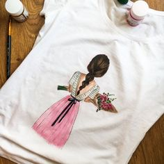 This hand-painted dress for a unique gift for you and your loved ones. Handmade fashion t-shirt made from a high quality cotton fabric, soft and pleasant to the body. You can choose your favor color and size, and have it custom made. Brighten up your style with our T-Shirt. It complement your image and create a unique fashion. This T-shirt is suitable for any style of clothing. It has a fitted style. I use high-quality paint for pictures. Paints doesnt fade, and after washing do not lose…