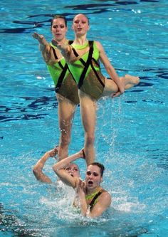 Olympic Synchronized Swimming : The German synchro team in action…