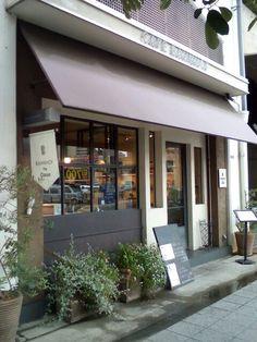 Cute cafe in Tamagawa Osaka.