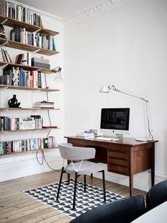 Mid-century desk and shelves
