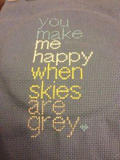 Cross Stitch Pattern  Lyrics  You are my sunshine  by CraftyAtters, £1.50