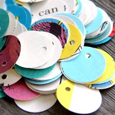 Cute DIY tags out of recycled paper goods!