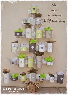 """calendar Avent """"recycled cans"""" Christmas Countdown, Christmas Love, Winter Christmas, All Things Christmas, Advent Calenders, Diy Advent Calendar, Christmas Activities, Christmas Traditions, Theme Noel"""