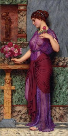 An Offering to Venus - John William Godward - 1912