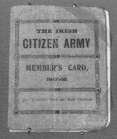 Irish Citizen Army membership Card 1917