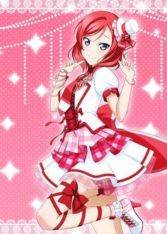 Nishikino Maki (New Costume) Chica Anime Manga, Anime Art, Red Hair Anime Characters, 2017 Pics, Maki Nishikino, Uta No Prince Sama, Love Live, April 19, Childhood Friends