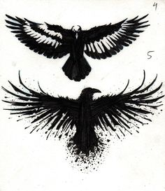 Crow Tattoo Designs by marcAhix