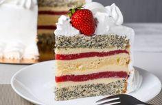 Easy Cake Recipes, Chef Recipes, Food Cakes, Vanilla Cake, Tiramisu, Mousse, Food And Drink, Sweets, Cream