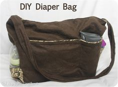 Learn how to make your own diaper bag!