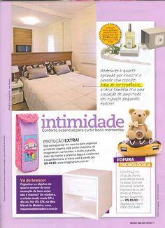 """O criado mudo Riviera da MMM está na seção """"Intimidade"""", da edição de abril da revista Decorar Mais Por Menos. http://www.meumoveldemadeira.com.br/produto/criado-mudo-riviera-branco-laqueado"""