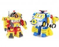 2 Игрушки-трансформер Поли и Рой в костюмах водолаза (Robocar Poli)