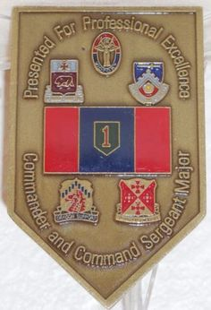 1st-Infantry-Division-Commander-Command-Sergeant-Major-Challenge-Coin-2-Star-CSM