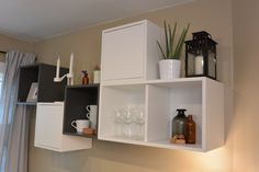 Create your own unique solution for storage and display with endless combinations of IKEA VALJE wall cabinets, available in different sizes and colors!