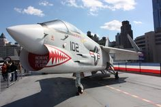 Vought F-8K Crusader. Luis MC Intrepid Museum, Military Aircraft, Bike, Stock Photos, Cars, Vehicles, Planes, Bicycle, Airplanes