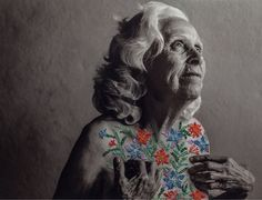 Joyful Embroidered Photographs Embellished with Colorful Floral Motifs by Aline Brant | Colossal