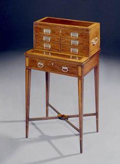 A GEORGE III ROSEWOOD BONHEUR DU JOUR - English Antique Furniture – Ronald Phillips Ant...