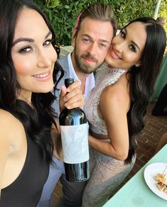 Brie, Artem, and Nikki💓 Nikki Bella Photos, Nikki And Brie Bella, Wwe Couples, Celebrity Couples, Bella Sisters, Famous Twins, Artem Chigvintsev, Families Are Forever, Portrait Pictures