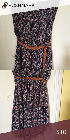 Staples, high low, mini. Country floral. Cut, high low, mini, country floral design. Worn once. Rue 21 Dresses Strapless