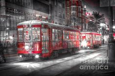 Canal Street Trolley - Photograph by Steve Sturgill