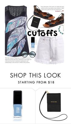 """""""Casual: Denim Shorts"""" by beebeely-look ❤ liked on Polyvore featuring JINsoon, Michael Kors, Tom Ford, jeanshorts, sammydress, cutoffs and casuallook"""