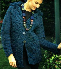 tejidos artesanales en crochet: original saco esencial para combinar tejido en crochet