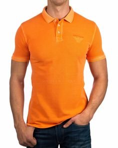 Polos Armani Jeans ® Naranja |ENVIO GRATIS