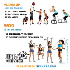 Warm up 7 min cap 3 rounds 10 wall ball shoots 10 kettlebell swings 10 box…