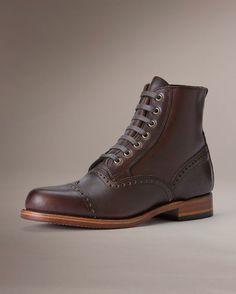 Men's Arkansas Brogue Boot - Dark Brown