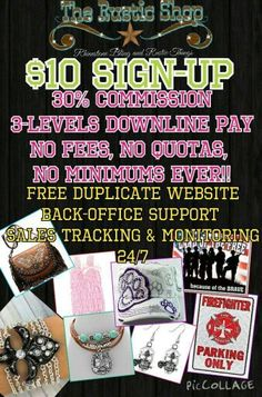 1 HOUR LEFT - HURRY!!!!  -  YOUR GONNA' MISS THE $10 NEW REP SIGN-UP - ONLY AN HOUR LEFT!!!!!! Deadline: 11:59pm tonight (7/2/15)!!!   $10 NEW REP SIGN-UP!!!   $10 NEW REP SIGN-UP!!!  $10 NEW REP SIGN-UP!!!  Reg.$25 SAVES YOU $15!!!!!!   Use that to buy product with your 30% discount!!!  HURRY - 10 MINUTES LEFT!!!  $10 NEW REP SIGN-UP Ends tonight at 11:59pm 7/2/15 reg. $25.  SIGN-UP HERE:   http://therusticshop.com/?store=tessiessecrettreasures    ***PM me for sign-up form help
