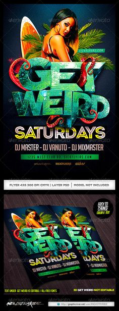 Get Weird Flyer Template PSD