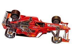 Ferrari F399 Formula One race car - cutaway