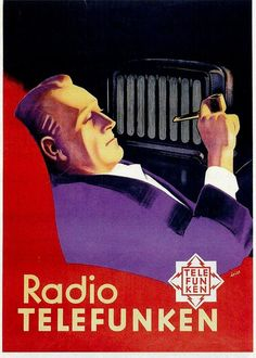 Old Poster of the year 1931 Radio Advertising, Vintage Advertising Posters, Old Advertisements, Vintage Ads, Vintage Posters, Vintage Images, Radios, Old Commercials, Art Deco Posters