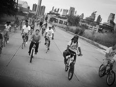 Visit Detroit-it is really an amazing, beautiful city. Slow Roll Detroit-open bike ride through Detroit