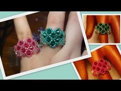 Beaded Heart Ring for Valentine's Day Beading Tutorial by HoneyBeads1 (Photo tutorial) - YouTube