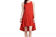 This red-hot dress keeps it fresh with a high-low hemline | Washingtonian