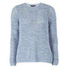 Denim Twist Petal Back Jumper (280 EGP) ❤ liked on Polyvore featuring tops, sweaters, twist sweater, twist top, jumpers sweaters, denim sweater and petal tops