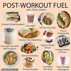 Dietitian reveals the EXACT foods to eat before and after a workout While the pre workout is all about fuelling your body with exactly what it needs to perfor. Healthy Snacks, Healthy Eating, Healthy Recipes, Keto Recipes, Eating After Workout, Carbs After Workout, Post Workout Snacks, Pre Workout Snack, Pre Workout Breakfast