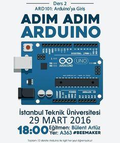 #beemakeritü #beemaker #Arduino #itu Adım Adım Arduino eğitimi Bülent Artüz tarafindan son hız devam ediyor. İkinci eğitim 29 Mart'ta yerinizi ayırtmayı unutmayın. by beemakeritu
