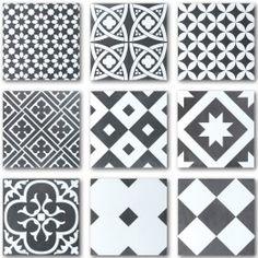 Seinä- ja Lattialaatta Ciment Mix-musta-valkoinen 20 x 20 cm - Bauhaus Moroccan Tiles, Wooden House, Bauhaus, Updated Kitchen, Tile Patterns, Tile Design, Marrakech, Ark, Mosaic Tiles