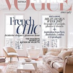 NEW ISSUE OUT TOMORROW! The July/Aug 2017 issue of Vogue Living hits newsstands tomorrow! On the cover, the living room of interior designer Emilie Bonaventure's apartment in Paris. 📷by @nicolas4matheus #VogueLiving #loveVL #newissueoutnow #decoration #frenchapartment @emiliebonaventure