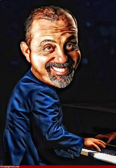 """Billy Joel - """" Sing us a song, you're the piano man Sing us a song tonight Well, we're all in the mood for a melody and you got us all feeling alright. Funny Caricatures, Celebrity Caricatures, Celebrity Drawings, Billy Joel, Funny Art, The Funny, Satire, Caricature Drawing, Caricature Photo"""