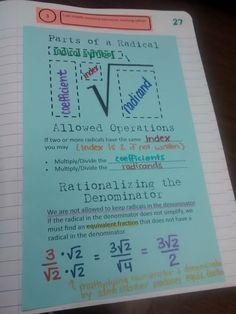 Looking at Radicals in Algebra 1