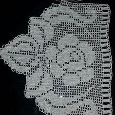 Crochet Spiral - Crochet for beginners Crochet Edging Patterns, Filet Crochet Charts, Crochet Lace Edging, Crochet Borders, Crochet Doilies, Crochet Flowers, Crochet Books, Crochet Home, Thread Crochet