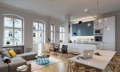 """查看此 @Behance 项目:""""apartment reworked - blücherstrasse, berlin""""https://www.behance.net/gallery/43879519/apartment-reworked-bluecherstrasse-berlin"""