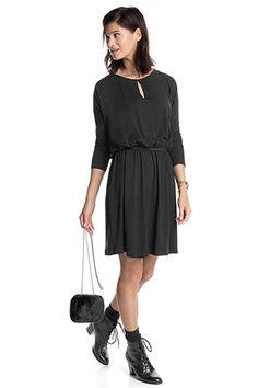 Esprit - Carmen-kjole af jersey med stretch i Esprits Online-Shop
