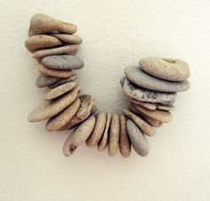 drilled beach rocks!   Use a diamond bit drill for these...yup